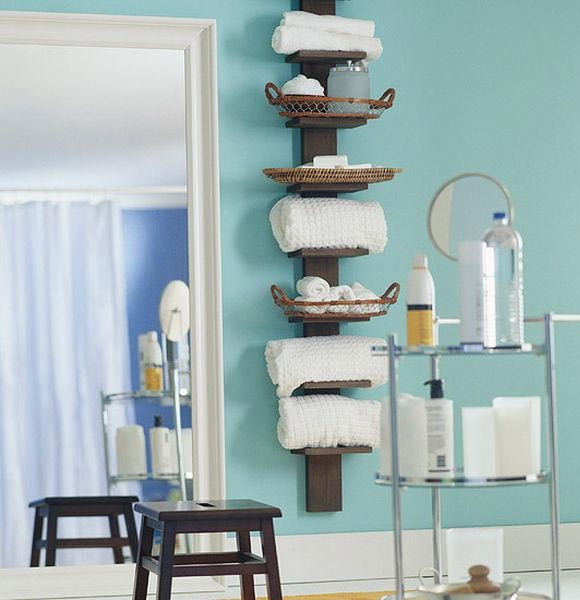 Bathroom storage ideas with shelves #diy #storage #organization #organize #decoratingideas #homedecor #decorhomeideas #bathroom