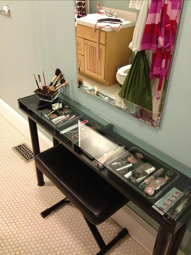 Make-up organization and storage #diy #storage #organization #organize #decoratingideas #homedecor #decorhomeideas