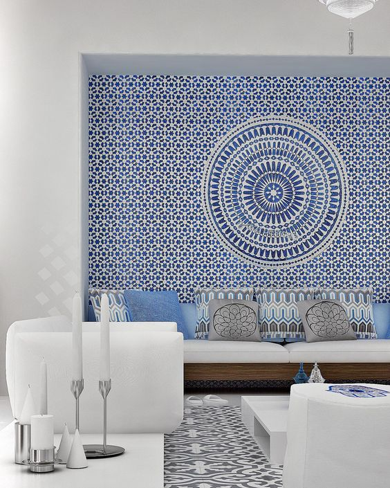 Greek inspired wall mural idea #mural #sticker #painting #homedecor #walldecor #decoratingideas #interiordesign #decorhomeideas