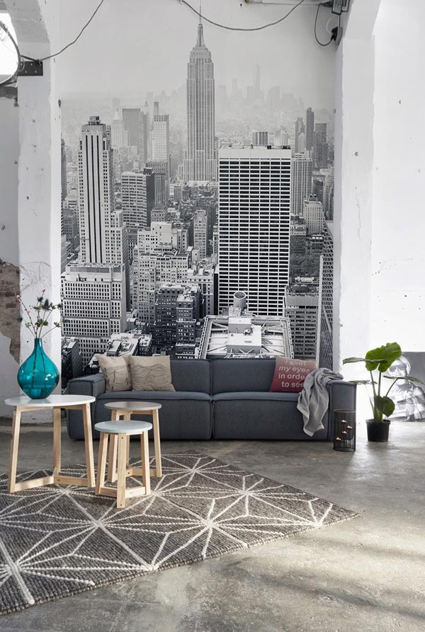 Nyc wall mural urban decor idea #mural #sticker #painting #homedecor #walldecor #decoratingideas #interiordesign #decorhomeideas