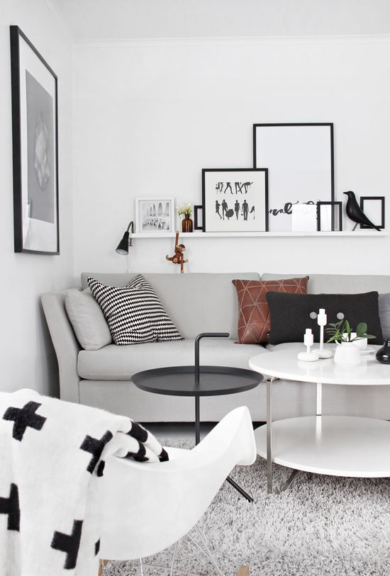 Scandinavian style living room design