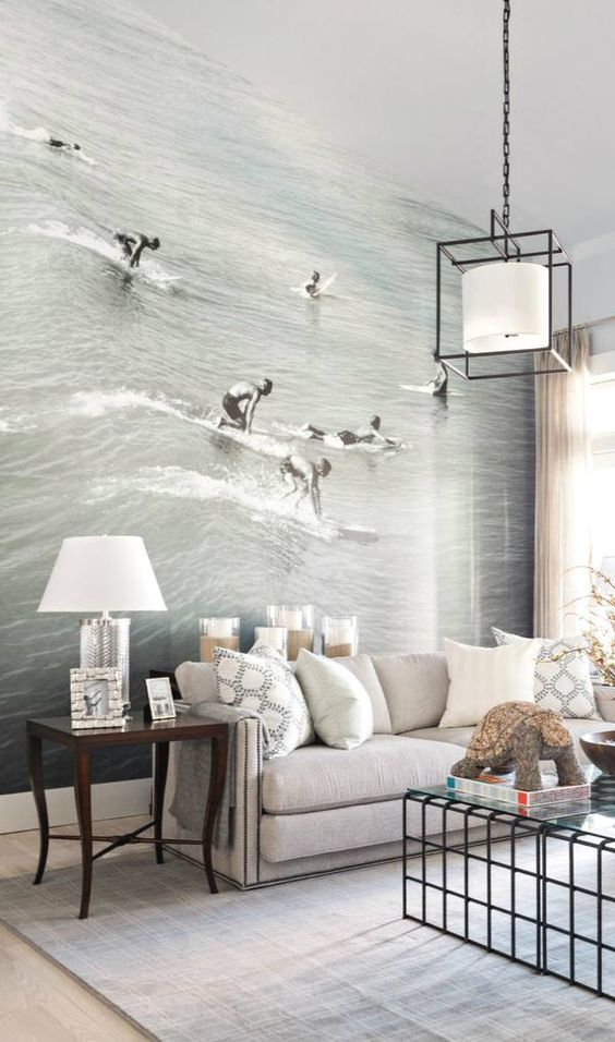Sea wall mural decor idea #mural #sticker #painting #homedecor #walldecor #decoratingideas #interiordesign #decorhomeideas