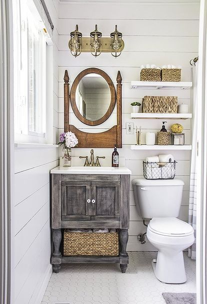 Small bathroom low cost trick #decoratingideas #homedecor #tinyplace #space #apartments #decorhomeideas
