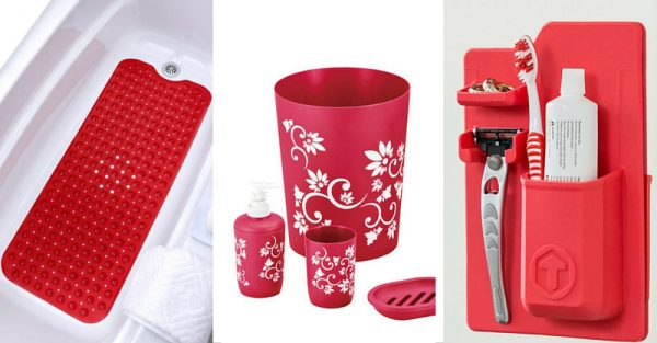10 Must Have Red Bathroom Accessories To Make It Complete