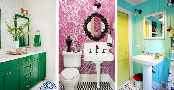 15 Bold Colored Bathrooms That Are Really Hot Right Now