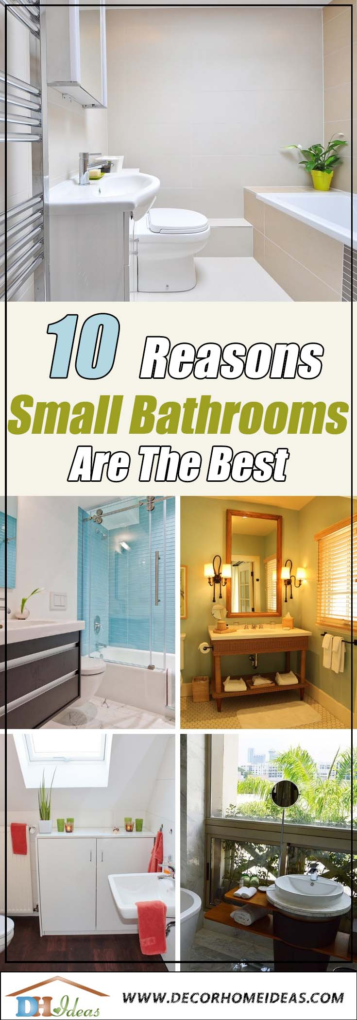 10 Undeniable Reasons Why Small Bathroom Is Best | Tips on decorating a small bathroom. #bathroom #decor #small #howto #furniture #decoratingideas #decorhomeideas