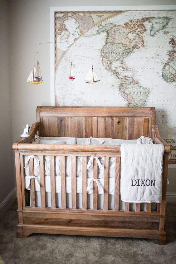 Adventure inspired baby boy nursery idea #nurseryideas #nurserydecor #homedecor #design #interiordesign #decoratingideas #decorhomeideas