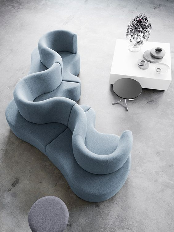 Amazing curvy couch design #sofa #couch #design #furniture #interiordesign #homedecor #decorhomeideas