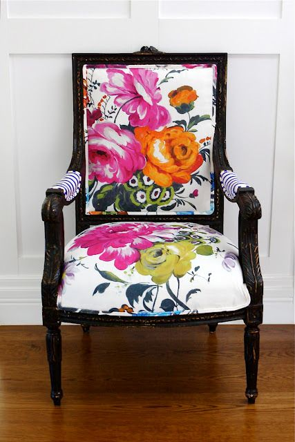 Beautiful floral chair design #chair #furniture #homedecor #decoratingideas #diy #decorhomeideas