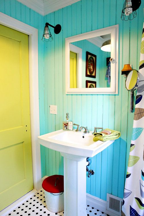 Colorful bathroom design idea #bathroom #bathroomdesign #bathroomideas #bathroomreno #bathroomremodel #decorhomeideas