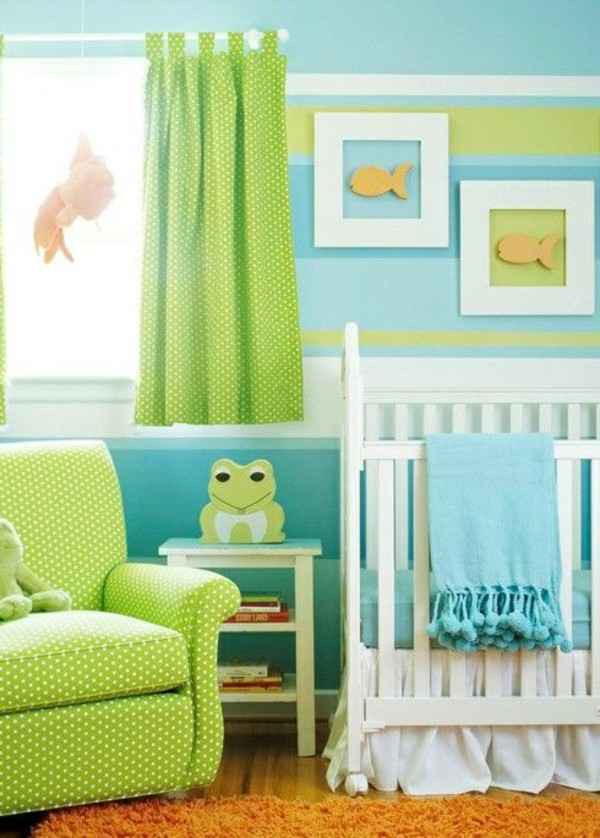 Lovely green baby boy room idea #nurseryideas #nurserydecor #homedecor #design #interiordesign #decoratingideas #decorhomeideas