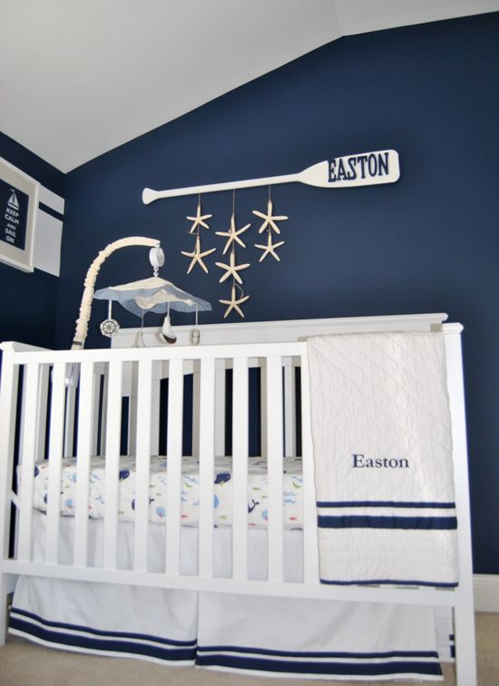 Nautical baby boy nursery idea #nurseryideas #nurserydecor #homedecor #design #interiordesign #decoratingideas #decorhomeideas