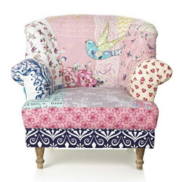 Patchwork chair design idea #chair #furniture #homedecor #decoratingideas #diy #decorhomeideas