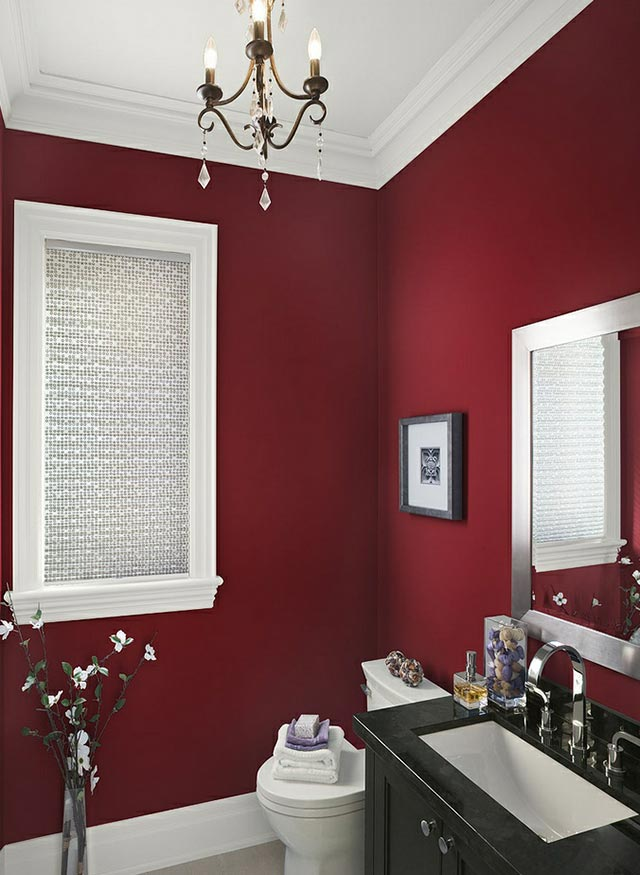Red bathroom design idea #bathroom #bathroomdesign #bathroomideas #bathroomreno #bathroomremodel #decorhomeideas