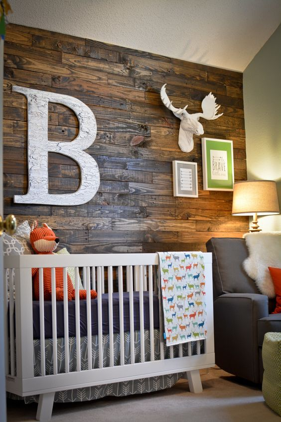 Rustic baby boy nursery idea #nurseryideas #nurserydecor #homedecor #design #interiordesign #decoratingideas #decorhomeideas
