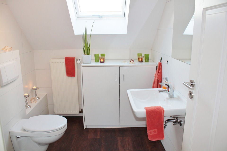 Simple small white bathroom