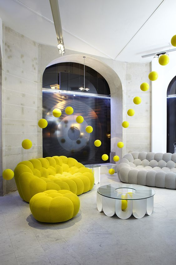 Yellow bubble sofa design #sofa #couch #design #furniture #interiordesign #homedecor #decorhomeideas