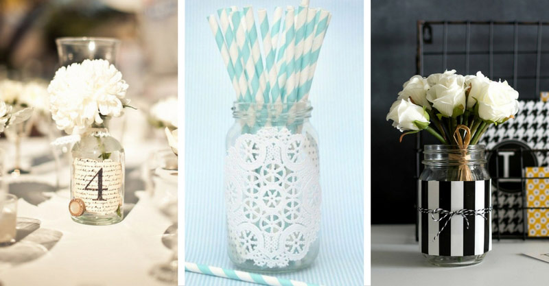 40 Amazing Paper Decorated Mason Jars For Cozy Home Decor Home Ideas Enchanting Decorating Ideas For Glass Jars