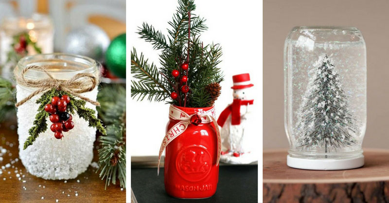 40 beautiful christmas jars decoration ideas