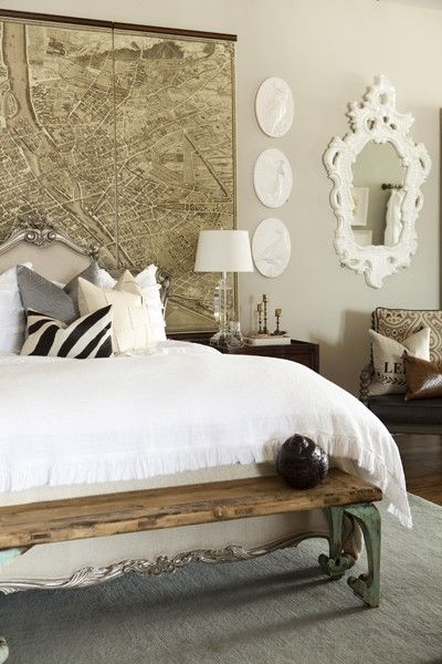 Antique style headboard bed #headboard #bedroom #homedecor #decoratingideas #decorhomeideas
