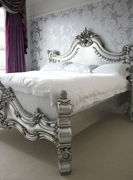 Baroque headboard design idea #headboard #bedroom #homedecor #decoratingideas #decorhomeideas