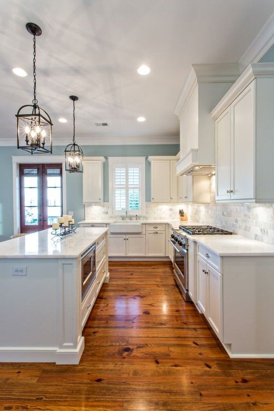 White Kitchen Oak Floor 20 wooden floor kitchen designs for natural look - decor home ideas