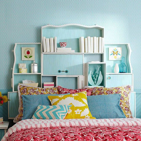 blue headboard idea