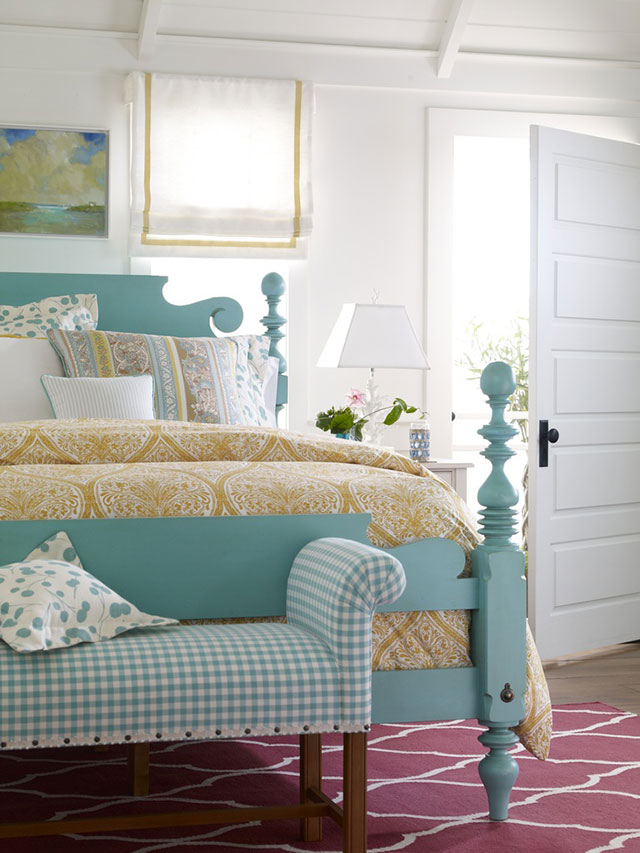Blue shabby chic headboard idea #headboard #bedroom #homedecor #decoratingideas #decorhomeideas