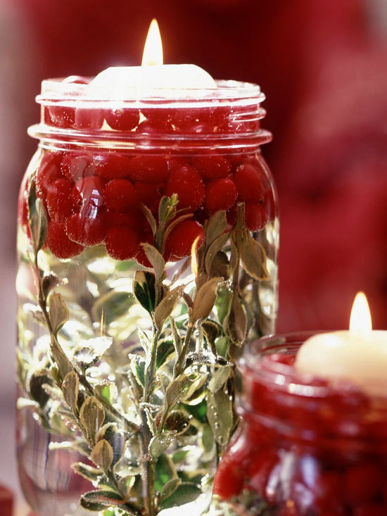 christmas candle jar inspired idea