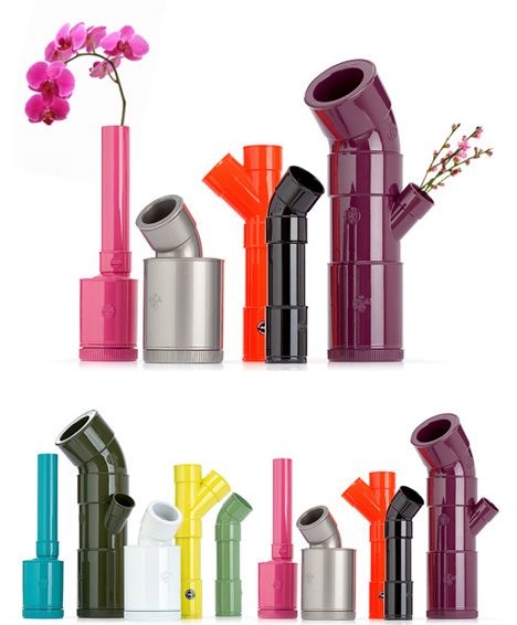 Colorful pvc pipe vases #diy #pvcpipes #homedecor #decoratingideas #pvc #decorhomeideas