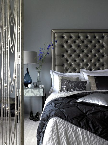 Dark grey headboard idea #headboard #bedroom #homedecor #decoratingideas #decorhomeideas