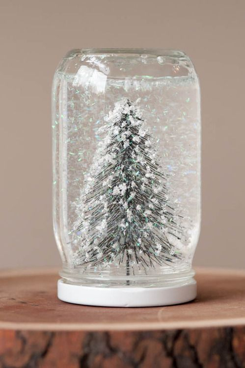 easy to make snow globe jar idea