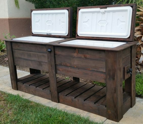 Great pallet cooler design idea #pallet #diy #pallets #old #furniture #makeover #repurpose #wooden #wood #decoratingideas #decorhomeideas