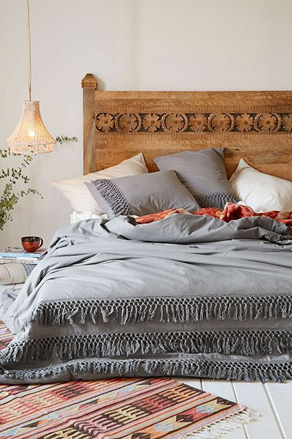 Great wooden headboard bed #headboard #bedroom #homedecor #decoratingideas #decorhomeideas