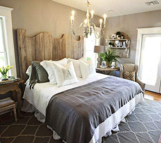 Great wooden headboard idea #headboard #bedroom #homedecor #decoratingideas #decorhomeideas
