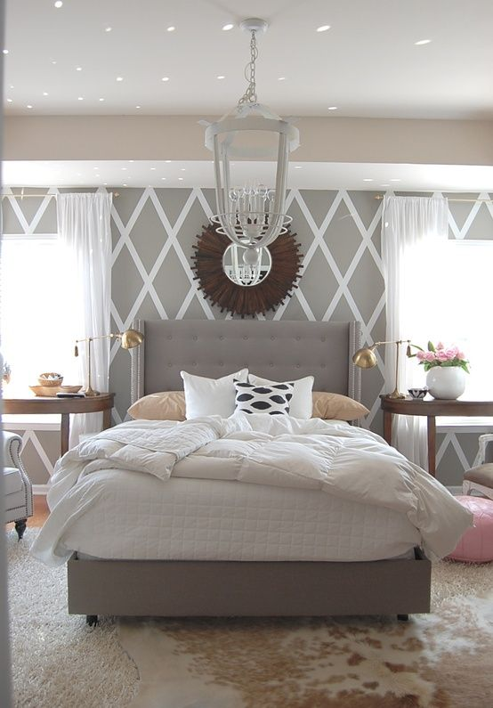 Grey headboard design idea #headboard #bedroom #homedecor #decoratingideas #decorhomeideas