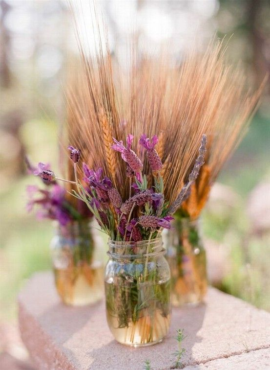lavender wedding jar decor idea