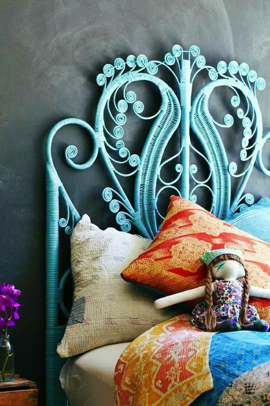 Lovely blue headboard style #headboard #bedroom #homedecor #decoratingideas #decorhomeideas