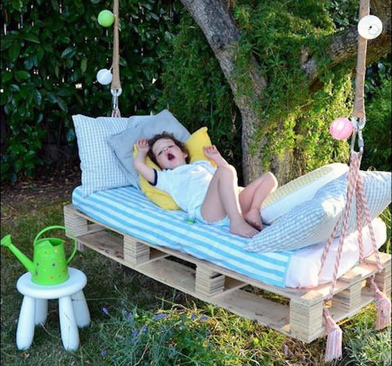 Lovely kids swing bed pallet idea #pallet #diy #pallets #furniture #makeover #repurpose #wooden #wood #decoratingideas #decorhomeideas