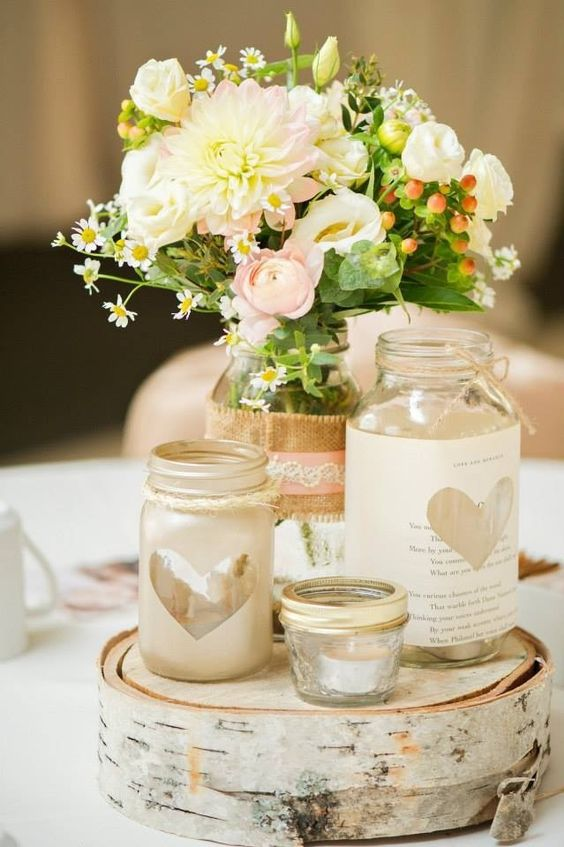 lovely wedding jars idea