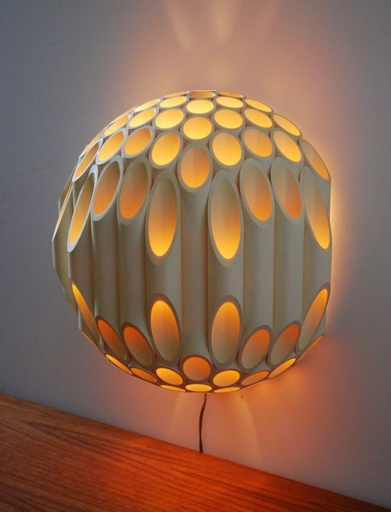 Pvc pipe amazing lamp idea #diy #pvcpipes #lamp #homedecor #decoratingideas #pvc #decorhomeideas
