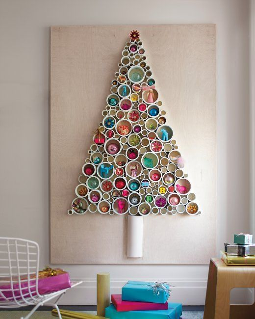 Pvc pipe christmas tree decoration idea #diy #Christmas #Christmastree #pvcpipes #homedecor #decoratingideas #pvc #decorhomeideas