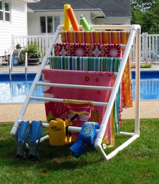 Pvc pipe drying rack idea #diy #dryer #homedecor #decoratingideas #pvc #decorhomeideas