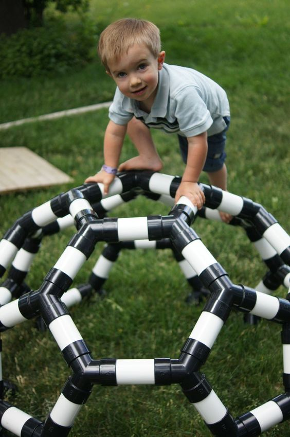 Pvc pipe kids climber idea #diy #pvcpipes #homedecor #decoratingideas #pvc #decorhomeideas