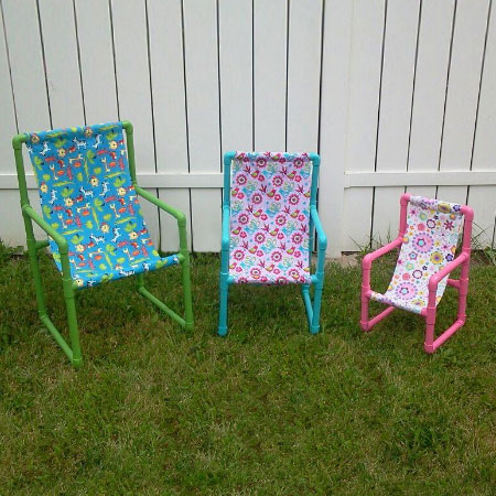 Pvc pipe kids garden chair idea #diy #pvcpipes #homedecor #decoratingideas #pvc #decorhomeideas