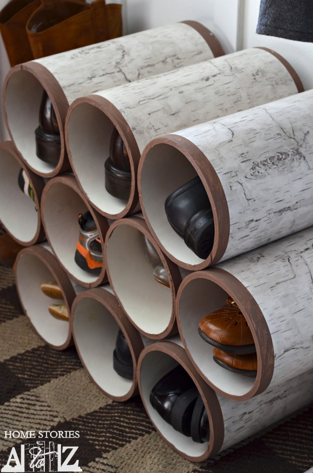 Pvc pipe shoe organizer idea #diy #storage #homedecor #decoratingideas #pvc #decorhomeideas