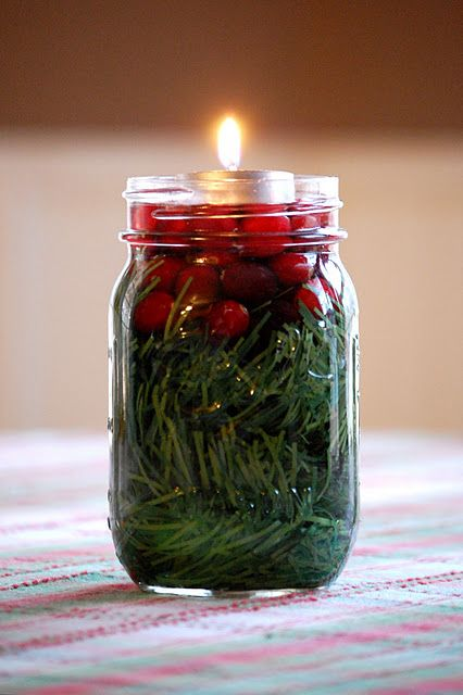 simple pretty christmas jar idea