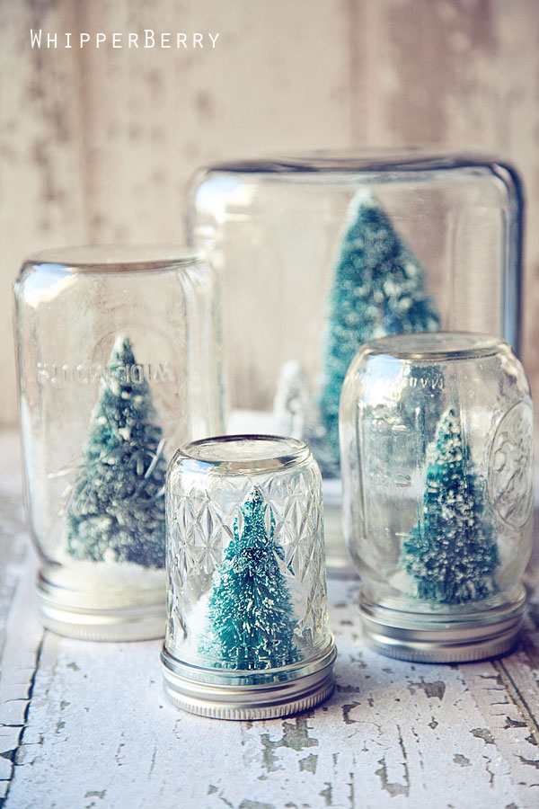snowglobe christmas jars idea