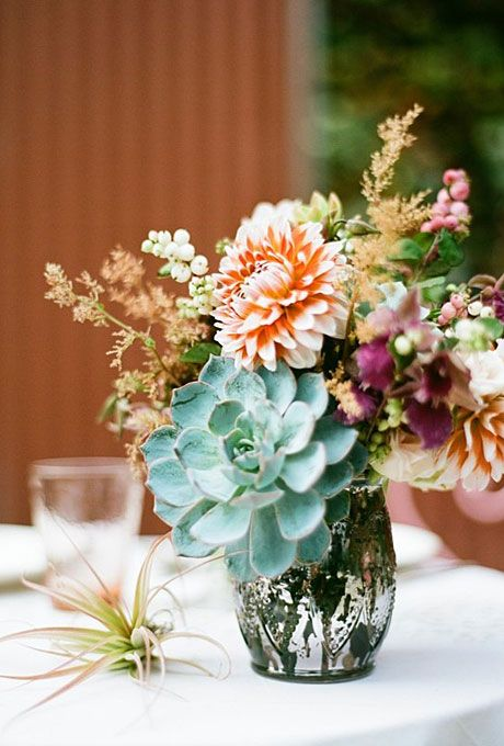 succulent wedding jar idea