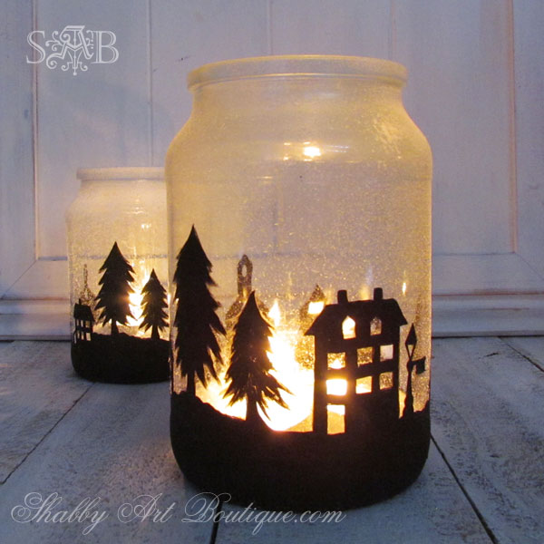 Township candle jar holder idea